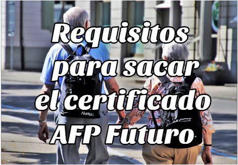 sacar el certificado de no adeudo AFP Futuro