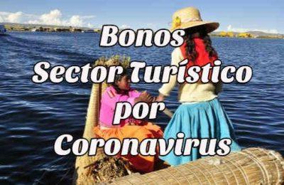 bono sector turístico coronavirus